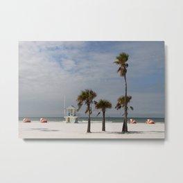 Clearwater Beach In Wintertime Metal Print