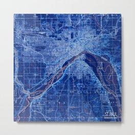 02-St Paul Minnesota 1896, old vintage map, vintage art print Metal Print