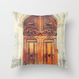 Trapani art 23 Sicily Throw Pillow