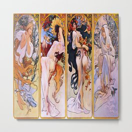 Vintage poster - Four Seasons Metal Print