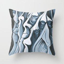 Mountain Faces Throw Pillow