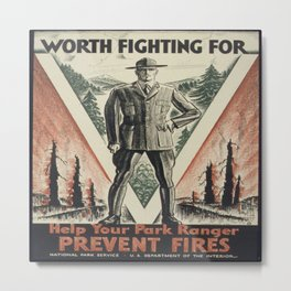 Vintage poster - Worth Fighting For Metal Print