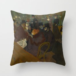 Henri de Toulouse-Lautrec - At the Moullin Rouge Throw Pillow