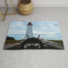 Sailing to Point Prim Lighthouse Rug