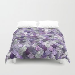 Mermaid Purple and Silver Duvet Cover