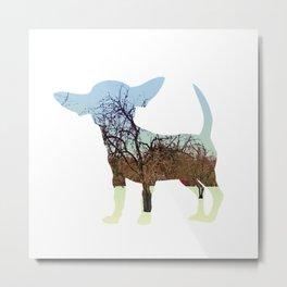 Nature Chihuahua Metal Print