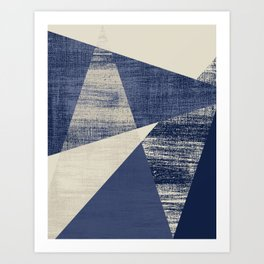 Indigo Geo Art Print