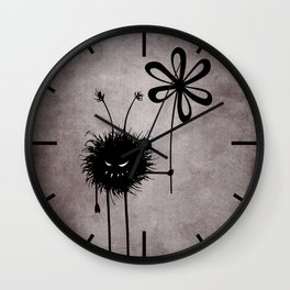 Evil Flower Bug Wall Clock