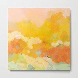 abstract spring sun Metal Print