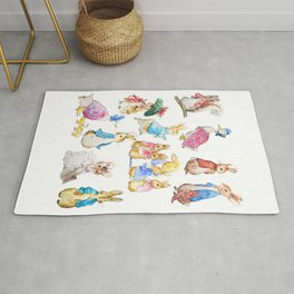 Tales of Peter Rabbit  characters Beatrix Potter Rug