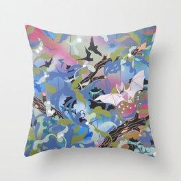 Illuminated Bat Throw Pillow
