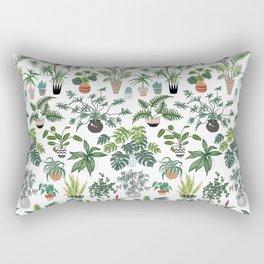 plants and pots pattern Rectangular Pillow
