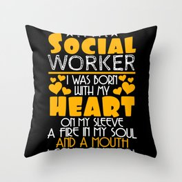 Social Worker Assistance Issues Throw Pillow