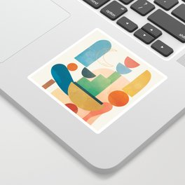 Modern Abstract Art 80 Sticker