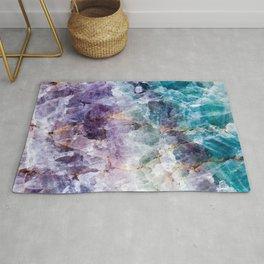 Turquoise & Purple Quartz Crystal Rug