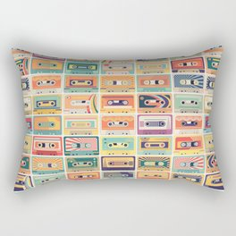 Retro Cassette Tapes Collection Rectangular Pillow