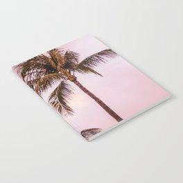 Palm Tree Photography | Landscape | Sunset Unicorn Clouds | Blush Millennial Pink Notebook