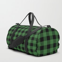 Classic Green Country Cottage Summer Buffalo Plaid Duffle Bag