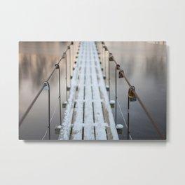 Over frozen water Metal Print