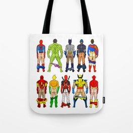Superhero Butts Tote Bag