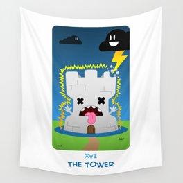 The Chibi Tarot - XVI The Tower Wall Tapestry