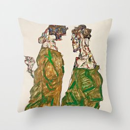Egon Schiele - Devotion Throw Pillow
