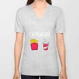 I'm Vegan Bro Veganism Vegetarian Healthy Food T-Shirt Unisex V-Neck