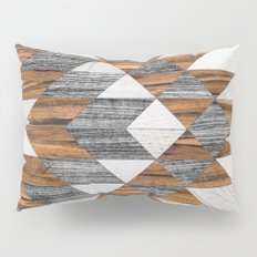Urban Tribal Pattern 12 - Aztec - Wood Pillow Sham