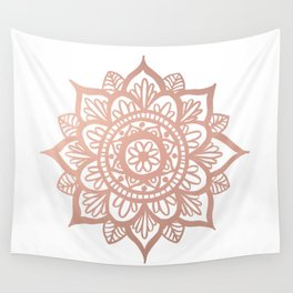 New Rose Gold Mandala Wall Tapestry