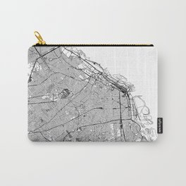 Buenos Aires White Map Carry-All Pouch