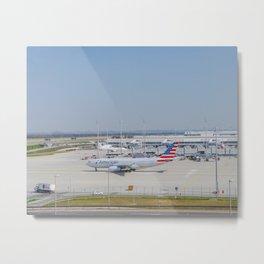 Flight AA717 MUC-PHL Metal Print