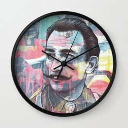 Salvador Dali - The Invisible Man's Cosmic Contemplation Wall Clock