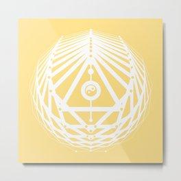Radiant Abundance (light yellow-white) Metal Print