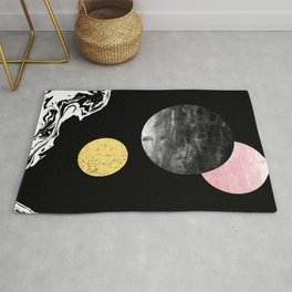 Celeste - space modern minimal abstract painting art urban brooklyn new york los angeles design Rug