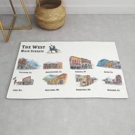 USA Wild West Towns Main Streets - Telluride, Breckenridge, Aspen & Co. Rug