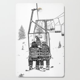 Snow Lift // Ski Chair Lift Colorado Mountains Black and White Snowboarding Vibes Photography Cutting Board