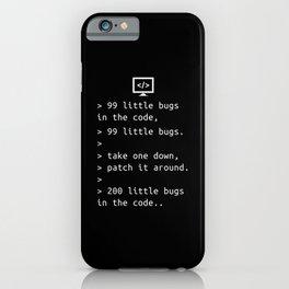 Programming Debugging Code Funny Gift iPhone Case