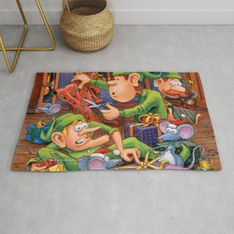 The Elves and Their Little Helpers Rug