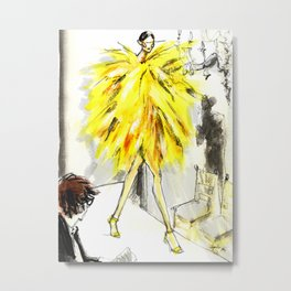 Yellow pop up #society6 Metal Print