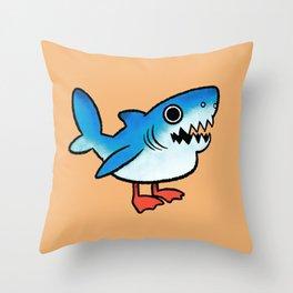Shark Gull Throw Pillow