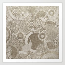 Canvas Design with Paisley Shapes and a Great Texture Art Print