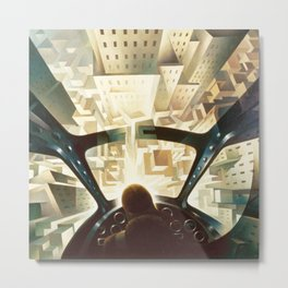 Nose Dive Into the City by T. Crali Metal Print
