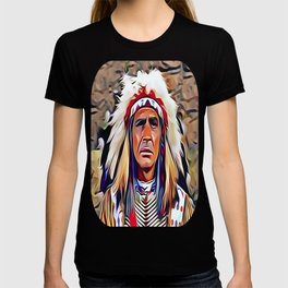 Native American Indian Chief with War Bonnet T-shirt