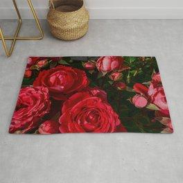 red rosebush deux Rug