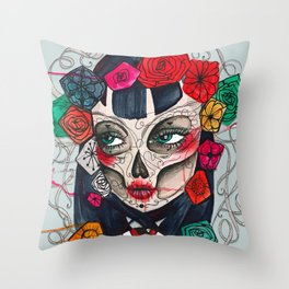 Mexican SK Throw Pillow