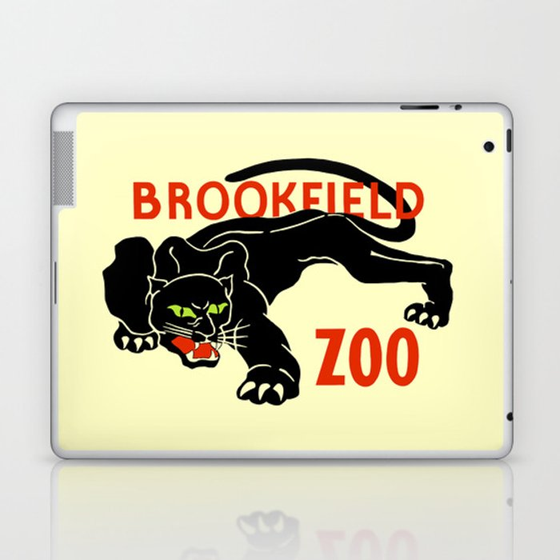 Black panther Brookfield Zoo ad Laptop & iPad Skin