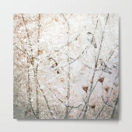 Swallows and Rippled Water Semi Abstract Nature Metal Print