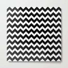 Black Chevron - Baby Stimulation Pattern Metal Print