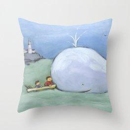 catching up Throw Pillow