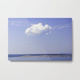 Single Cloud Over Adriatic Sea Metal Print
